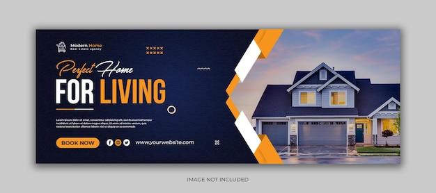 Social-media-facebook-cover-vorlage für immobilienunternehmen