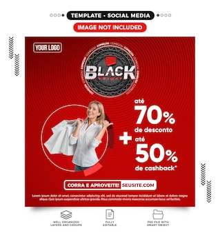 Social-media-feed-website black friday bietet bis zu 70 rabatte in brasilien