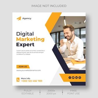 Social media für digitales marketing und instagram-post-vorlage