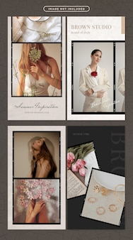 Social-media-geschichte in mode und beauty-thema