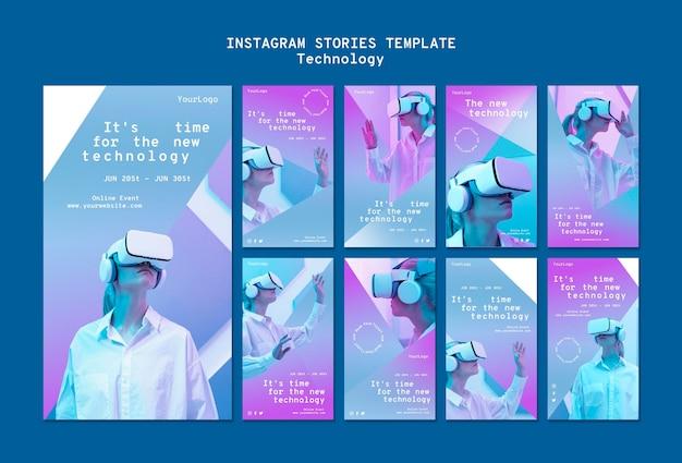 Social-media-geschichten aus der virtuellen realität