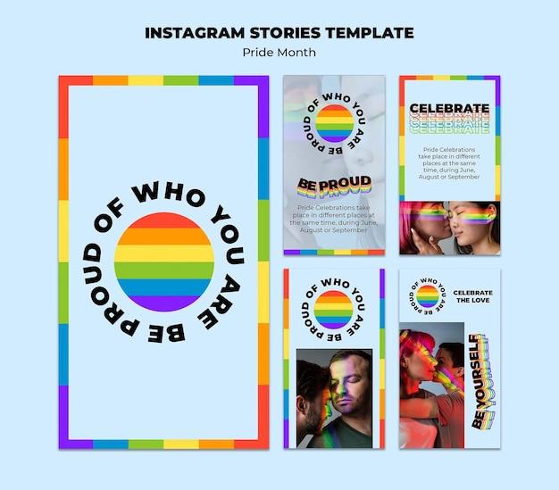 Social-media-geschichten des pride-monats