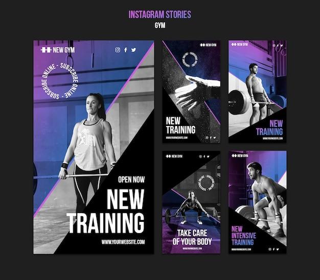 Social-media-geschichten im fitnessstudio
