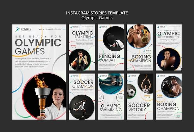 Social-media-geschichten über olympische spiele