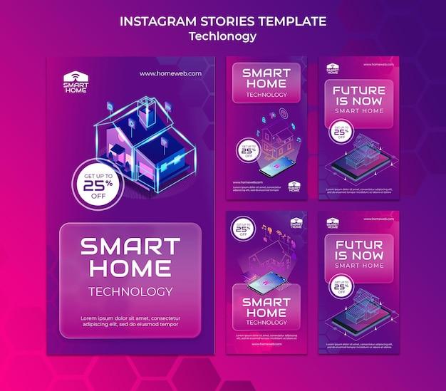 Social-media-geschichten zu smart home