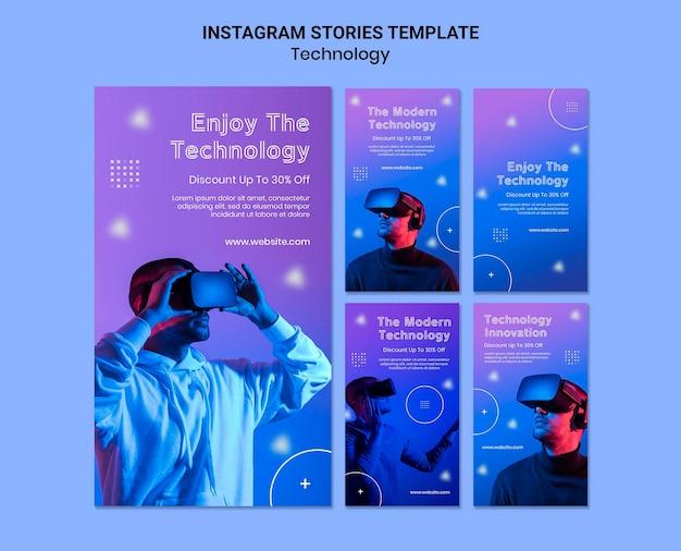 Social-media-geschichten zur virtuellen realität