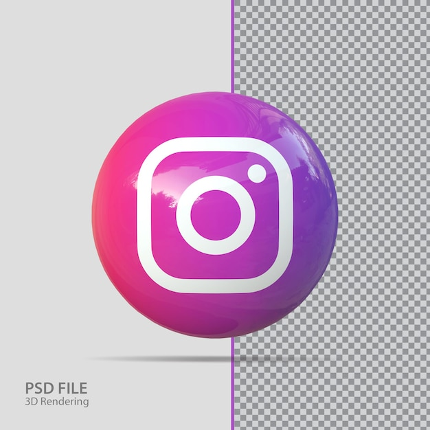 Social-media-instagram 3d-rendering