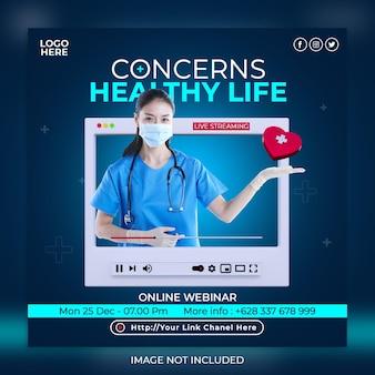 Social-media-instagram-post-vorlage für medizinisches gesundheitswesen banner