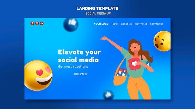 Social media landing page vorlage