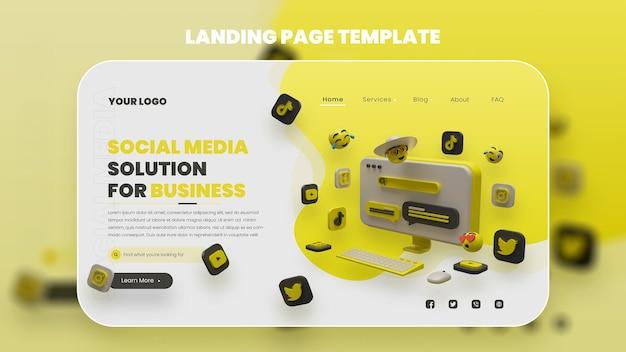 Social media landingpage premium psd