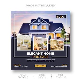 Social media- oder instagram-postvorlage für immobilien