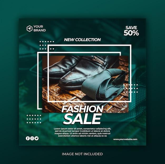 Social media post banner vorlage mit fashion sale promotion-konzept