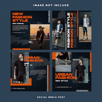 Social media post design instagram