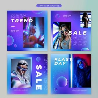 Social media post im neon-thema