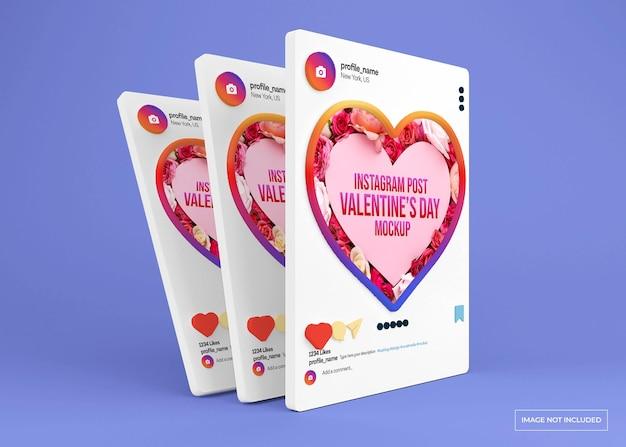Social-media-post-modell zum valentinstag