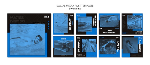 Social media post schwimmclub vorlage