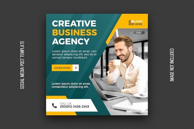 Social-media-post-vorlage für digitale agenturen