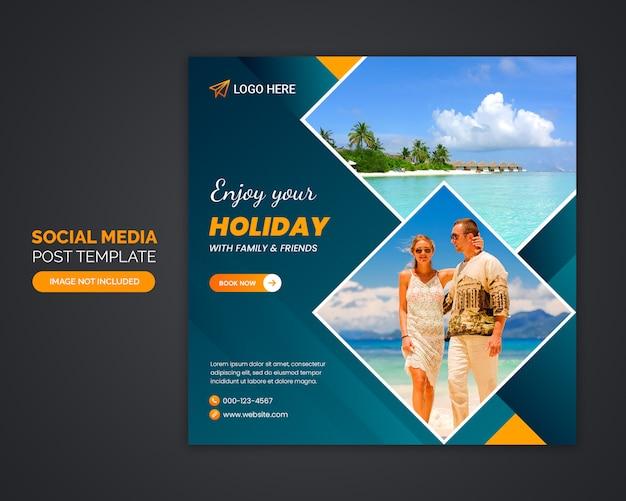 Social-media-post-vorlage für reisebüros