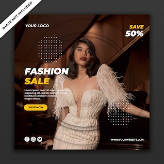 Social media post vorlage instagram fashion sale kollektion