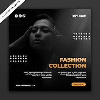 Social media post vorlage instagram fashion sale kollektion