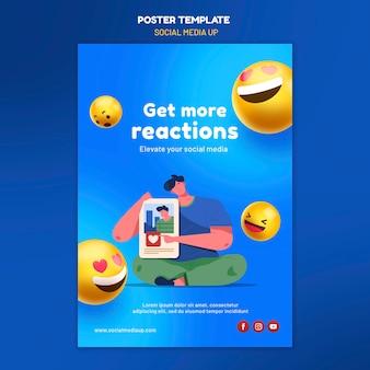 Social media poster vorlage