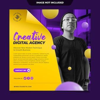 Social media postvorlage der digital agency