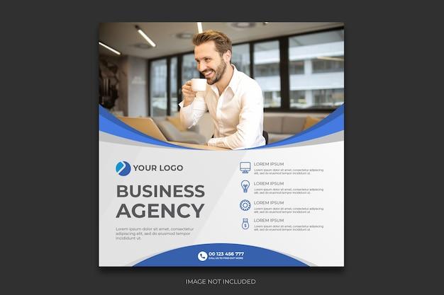 Social media postvorlage der digitalen agentur