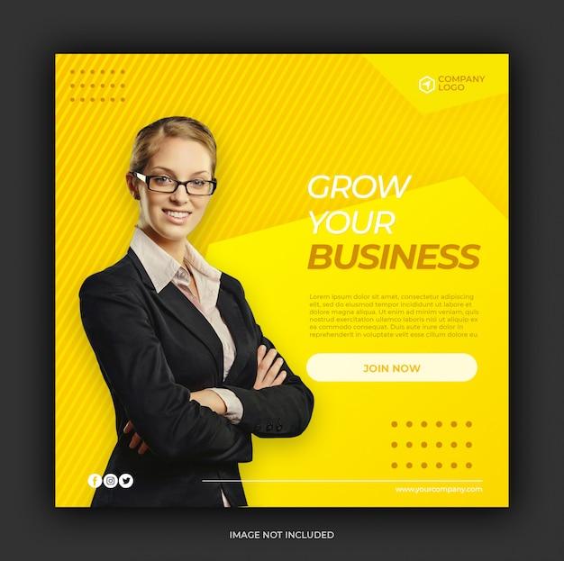 Social media postvorlage für digitales marketing