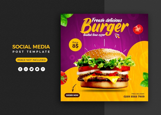 Social media promotion und instagram banner post design vorlage