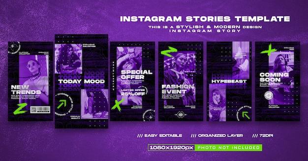 Social-media-stories streetwear-modedesign-vorlage