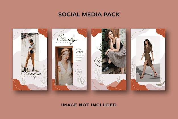 Social media story instagram vorlage