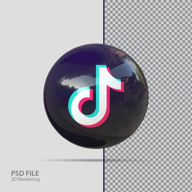 Social media tiktok 3d-rendering