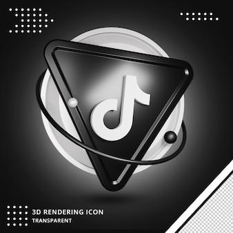 Social media tiktok symbol 3d-rendering isoliert
