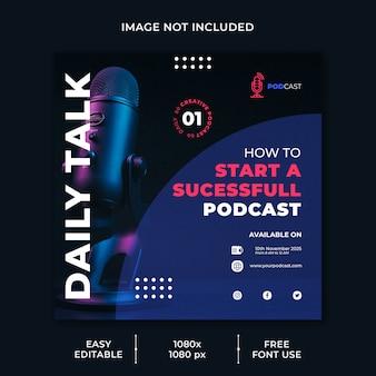 Social-media-vorlage für podcast-geschäftskanäle