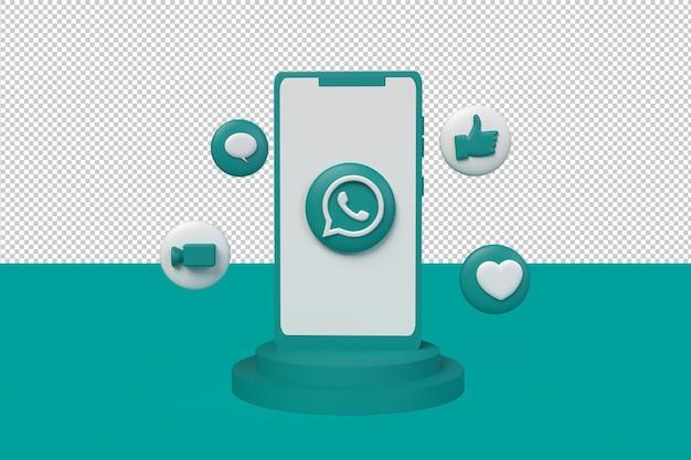 Social-media-whatsapp-hintergrund. 3d-rendering