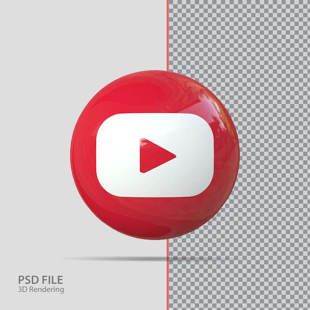 Social media youtube 3d-rendering
