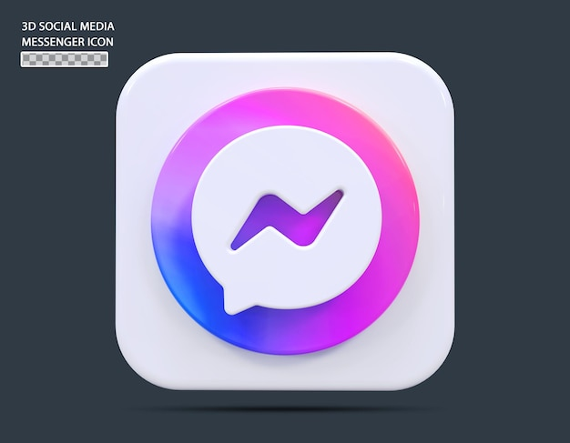 Social medial messenger symbol konzept 3d-rendering
