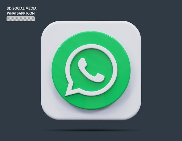 Social medial whatsapp symbol konzept 3d-rendering