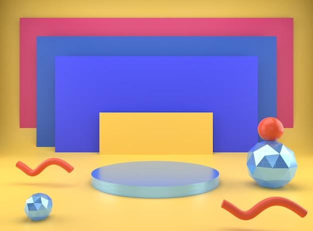 Sockel für die anzeige, plattform für das design in 3d-rendering