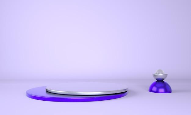 Sockel für display, plattform für design, blankoprodukt. 3d-rendering.
