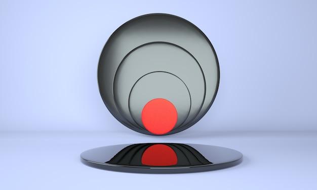 Sockel für displaydesign in 3d-rendering
