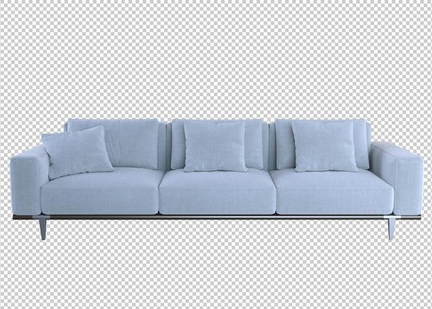 Sofa isoliert auf weißem hintergrund