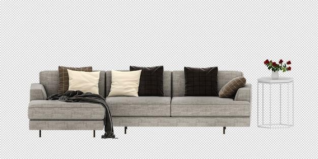 Sofamodell im 3d-rendering isoliert