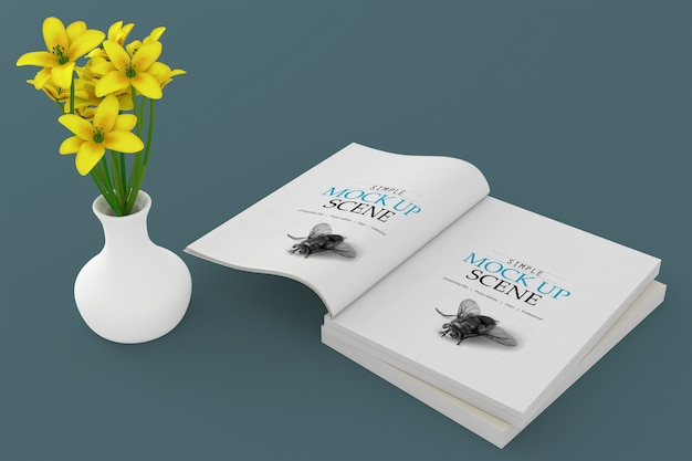 Softcover-buchmodell