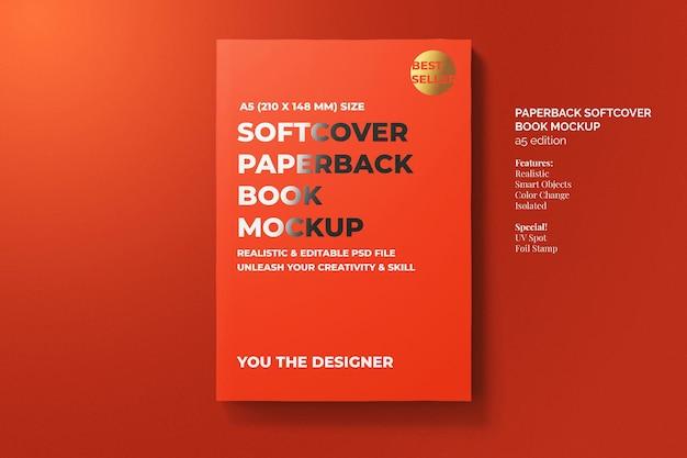 Softcover taschenbuch buch modell draufsicht