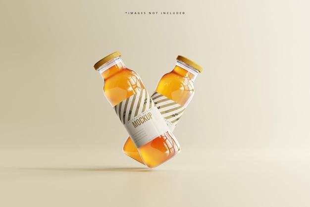 Softdrink-glas-getränkeflasche mockup