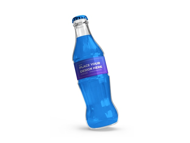 Softdrinkflasche 3d mockup design