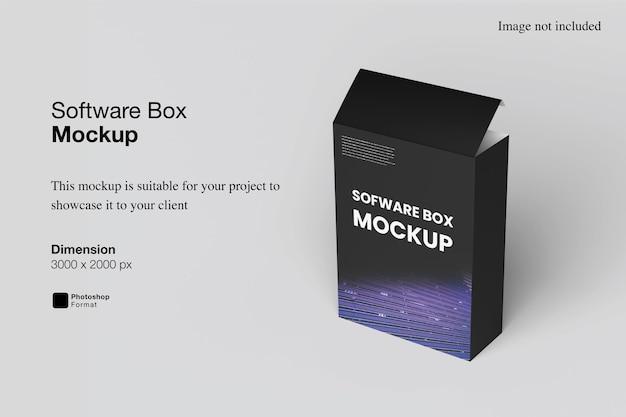 Software box mockup design isoliert
