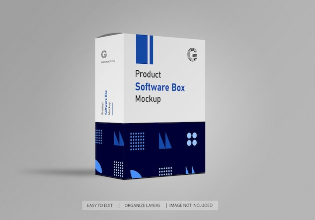 Software- oder produktbox-mockup
