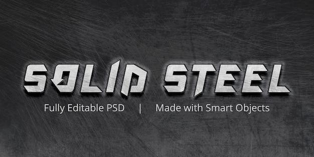 Solid steel text style-effekt